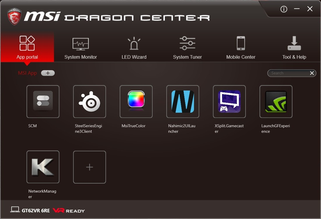 MSI Dragon Center